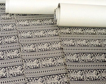 Tribal Print Set of 3 Wrapping Papers and craft paper supply in Black and white print