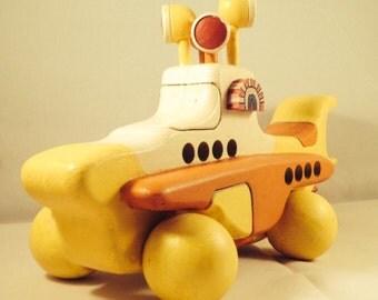 Wooden Yellow Submarine