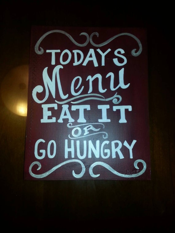 Today's Menu - sign