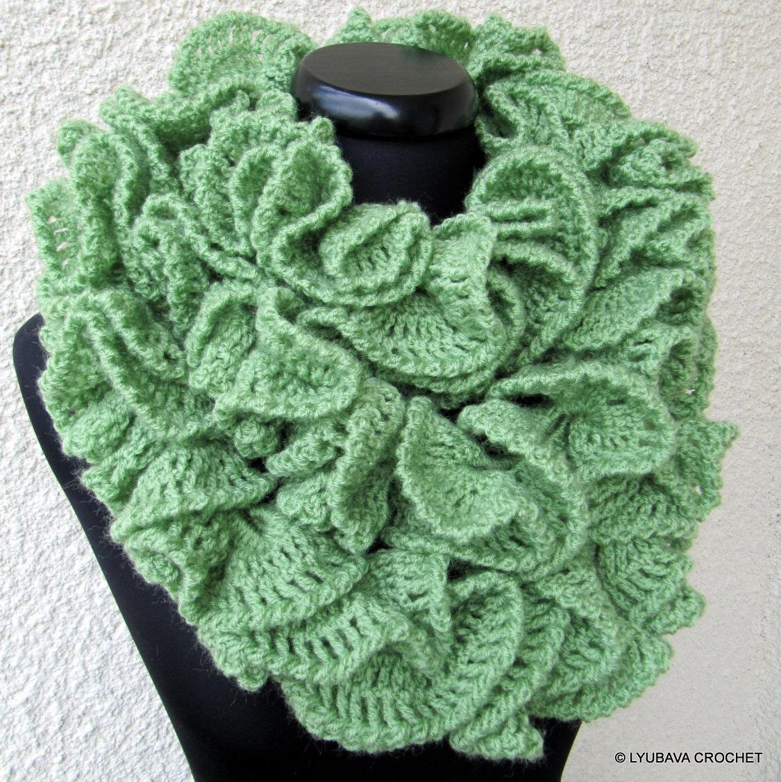 Crochet Pattern Lace Ruffle Scarf : CROCHET SCARF PATTERN Ruffle Scarf Pattern by LyubavaCrochet