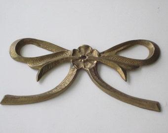 Vintage Brass Decorative Bow Applique