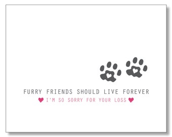 PET SYMPATHY CARD. Sick Cat Dog House Pet. Animal Death Card. Dog loss. I'm Sorry. Pet Grievance Card.