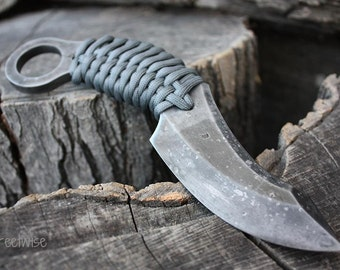 """Handcrafted FOF """"Streetwise"""", survival, defense or tactical karambit blade"""