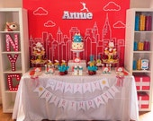 "Annie Movie Inspired Backdrop:  42""X72"""