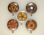Monarch Butterfly Art Buttons / Magnetic Pendant Jewelry