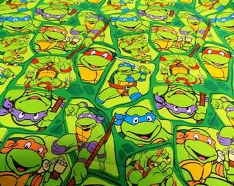 Ninja Turtals Fabric by the Yard Half Yard or Fat Quarter 100% Cotton