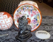 Vintage Black Onyx Foo Dog...... Feng Shui Protector ..Wards Away Evil Spirits ...Protects Your Home......RU1