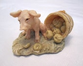 Under the Weather Pig Figurine by Lowell Davis, Retired