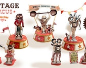 Vintage Circus- Freak Show Edition: DIY 3D Paper Craft- Download