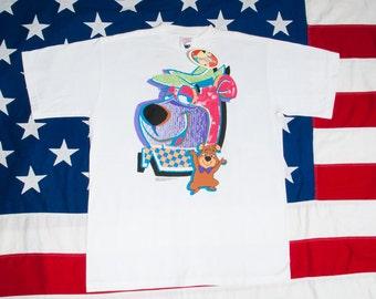 YOGI BEAR and Boo Boo DEADSTOCK T-Shirt Size L