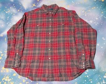 Plaid RALPH LAUREN Polo Shirt Size XL