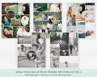 Collage & Blog Board Multipack vol.1 - psd templates,16x20 inches, web, pinterest