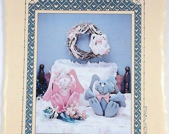Vintage Bunny Love Pattern All Cooped Up Pattern Easter Bunnies Patterns Craft Patterns Designed by Becky Tuttle Destash Commercial Supply