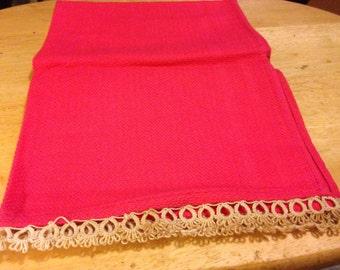 Hot Pink Linen TeaTowel