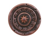 6 Gladiator 5/8 inch ( 15 mm ) Dill Metal Buttons Antique Copper Color
