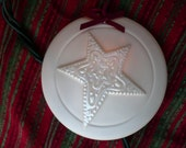 Decorative Christmas Star Ornament with mother of pearl, glows