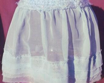 Powder Blue Chiffon Skirt