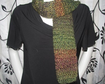 Camo Green and Brown Scarf