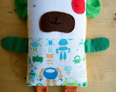 one of a kind lavender rice buddy with fleece back and removable cover