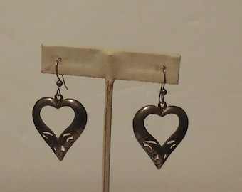 Sterling Silver Hearts Shaped Earrings