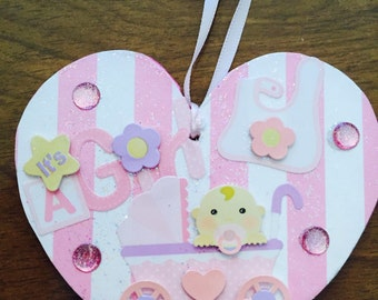 Baby ornament  free personalization