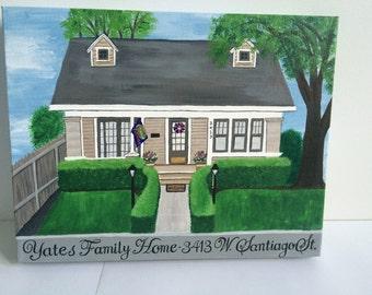 Custom Home Portrait on Canvas