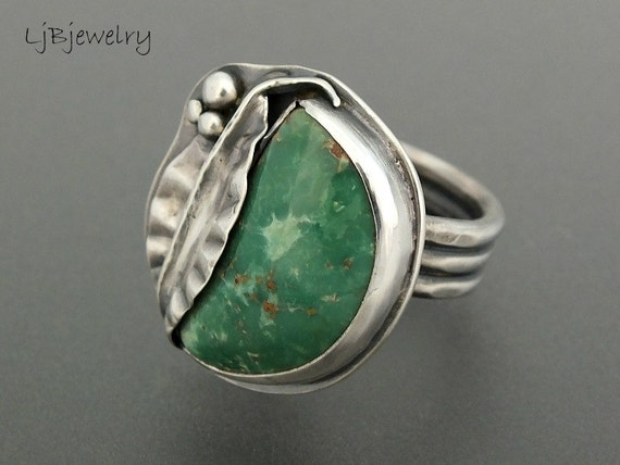 silver ring turquoise ring turquoise jewelry turquoise