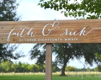 Personalized Wedding Sign, Wedding Name Sign, Wedding Name Board, Wedding Sign with Names and Date, Anniversary Name Sign, Established Sign