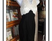 Lace Top Dress - Bewitching Black and White by Scott McClintock Petites  CLO-008a-092913000