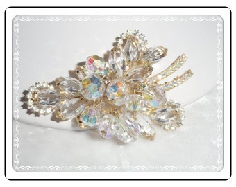 Vintage Juliana  Brooch - Lovely Clear Icy Halo D&E   Pin-900a-060514000