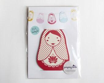 Babushka DIY Bunting Kit/ Nesting Doll Banner/ Russian Doll/ Matryoshka/ Room Decor/ Kids Room/ Kids Gift/ Children's Decor/ Room Decoration