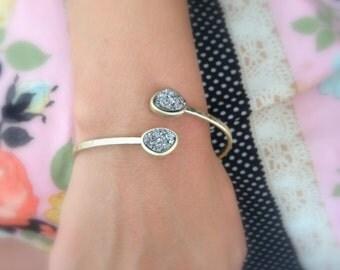 Druzy Cuff Bracelet