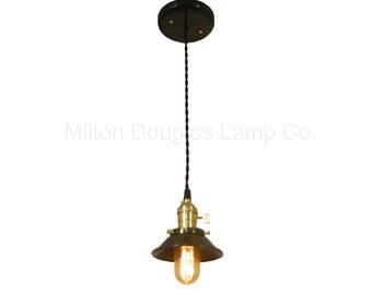 Brass & Steel Edison Pendant