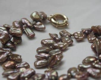 Pearl necklace modern jewelry bracelet earrings dangles fancy eccentric freshwater pearls gold