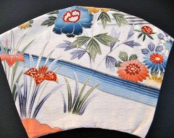 Mug Mat or Vase Mat,Silk kimono fabric #4