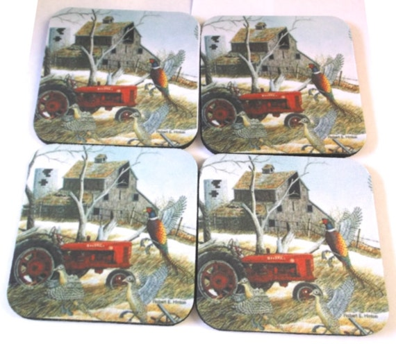 tractor coasters, farm coasters, rubber coasters, kitchen coasters, bar coasters, coffee coasters, table protectors, drink coasters