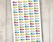 Bright Running Shoes, Set of 90