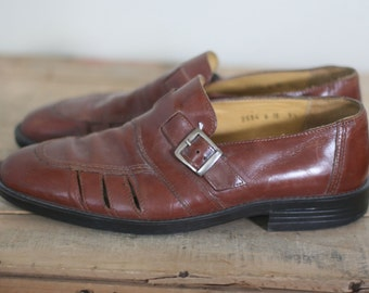 vintage adolfo men's leather shoes size 9.5 made in italy
