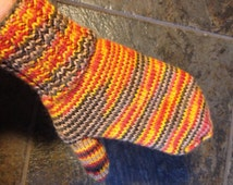 Mittens, Gloves Hand Knitted Mittens 100% wool  Warm and cozy Ready to Ship winter accessories
