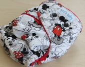 One Size Hybrid Fitted Cloth Diaper - Mikey Mouse