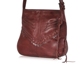 MOJO. Small leather crossbody / bags and purses / small leather purse / small leather bag / boho bag. Available in different leather color