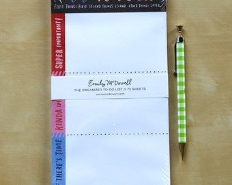 Organized To-Do List Notepad, Funny Notepad