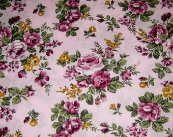 Purple Flowers Japanese Cotton Fabric, Cotton Fabric, Floral Cotton Fabric