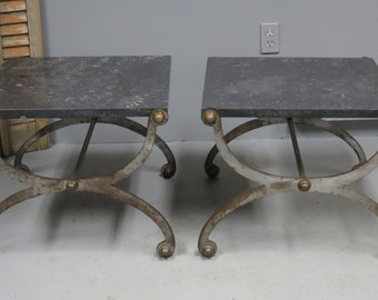 Pair of Neoclassical End Tables after Maison Jansen French