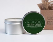Winter Woods scented soy wax Wicked Candle