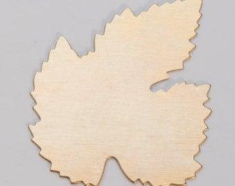 Brass Blanks Leaf 40mm 24ga Pkg Of 6