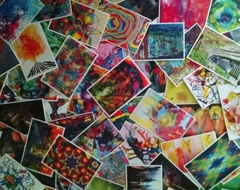 100 x Bulk Art Postcards - Wholesale Postcard Lot - Free Shipping