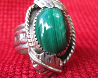 Malachite and Sterling silver. #9