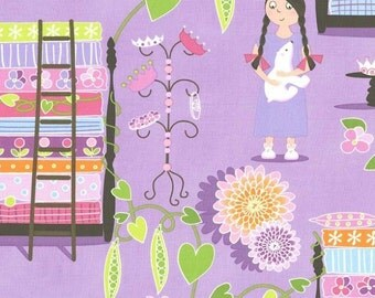 Fat Quarter Princess & The Pea Lavender Cotton Quilting Fabric - Michael Miller