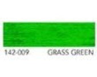 YLI Original Rayon Ribbon Floss 2mm Wide x 13.5m Long Grass Green Shade 009